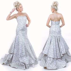 Couture Mermaid Pageant Evening Gown Wedding Dress